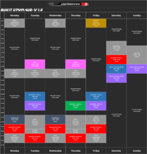Timetable | Best MMA Academy & Martial Arts Training School in Malaysia